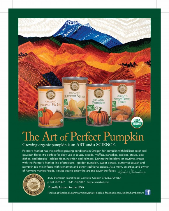 Art of perfect pumpkin web